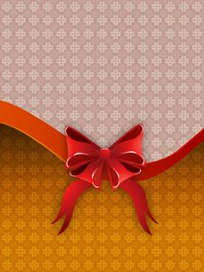 Free Holiday Background With Bow Royalty Free Stock Photo - 28087095