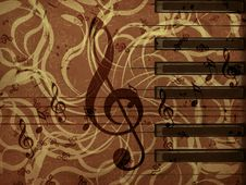 Free Music Floral Background Stock Image - 28087131