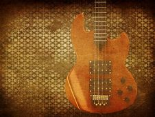 Free Vintage Music Guitar Background Royalty Free Stock Images - 28087179