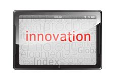 Innovation Tablet Isolated On White Stock Photos