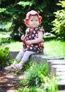 Free A Child On A Little Tree Stump Stock Photos - 28093743