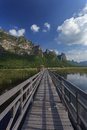 Free The Wooden Walk Way In A Lake Stock Photography - 28096952