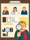 Free Characters.job Search Set Royalty Free Stock Photography - 28098637