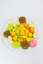 Free Various Colorful Thai Dessert On White Plate Stock Images - 28098964