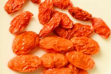 Free Dried Golgi Berry. Stock Photography - 28090602