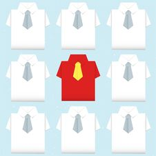Free Be Different Shirt Origami Stock Photography - 28090722