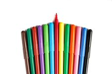 Free Colour Pens Royalty Free Stock Image - 28090946
