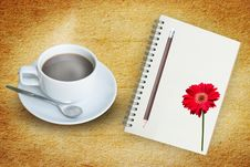 Free Coffee And Note Book Royalty Free Stock Image - 28091096