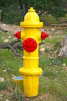 Free Image Of A Yellow Fire Hydrant Stock Photos - 28091543