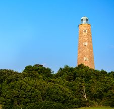 Free Old Cape Henry Lighthouse Royalty Free Stock Image - 28091676