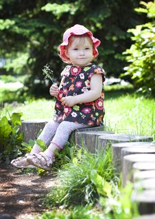 Free A Child On A Little Tree Stump Stock Photos - 28093743