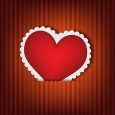 Free Red Heart Design Card Stock Photo - 28095260