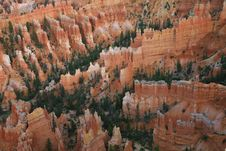 Free Great Spires Carved Away By Erosion In Bryce Stock Photography - 28095742