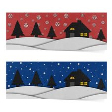 Free Christmas Night Recycled Papercraft. Stock Images - 28095784