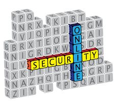 Illustration Of Word Online Security Using Text Stock Photography
