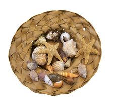 Free Hat Full Of Souvenirs From The Beach Stock Photo - 28096750