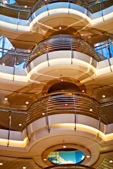 Free Cruise Ship Interior Royalty Free Stock Images - 28097339
