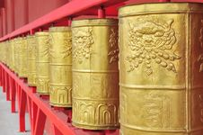 Free Prayer Wheels Stock Photography - 28099602