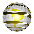 Free Surrealistic Peeling Globe Earth 3D Royalty Free Stock Images - 2814679