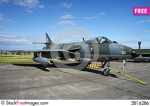 Free Hawker Hunter Royalty Free Stock Image - 2816286