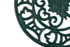 Fragment Of Cast Iron Ornament Royalty Free Stock Photography