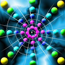 Free Rainbow Spiderweb Balls Royalty Free Stock Photography - 2811597