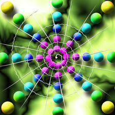 Free Rainbow Spiderweb Balls Stock Photos - 2811663