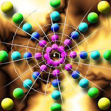 Free Rainbow Spiderweb Balls Royalty Free Stock Photo - 2811715