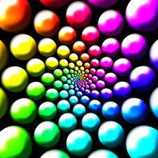 Rainbow Balls Royalty Free Stock Image