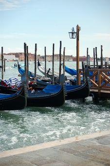 Free Venice - Seaside With Gondolas Stock Photo - 2812000