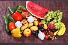 Free Vegetables And Fruits Stock Photography - 2812222