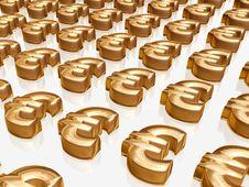 Free Golden Euros Stock Photos - 2812673