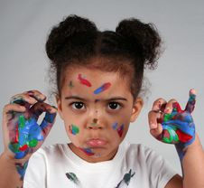 Free Girl And Paint Royalty Free Stock Photos - 2812878