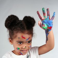Free Girl And Paint Stock Photo - 2812880