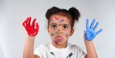 Free Girl And Paint Royalty Free Stock Photos - 2812938