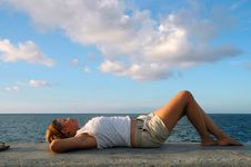 Free Girl Relaxing Stock Photos - 2813393