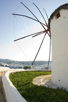 Free Windmill Greek Islands Stock Photo - 2813420