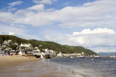 Free Welsh Seaside Town Royalty Free Stock Photography - 2814637