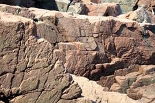 Free Acadia Pink Granite Stock Photography - 2814662