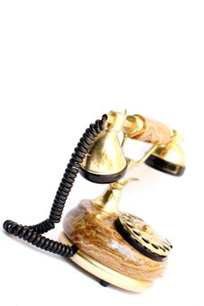 Free Old Gold Telephone Stock Image - 2815191