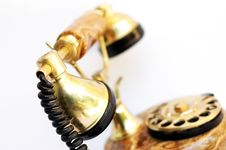 Free Gold Old Telephone Stock Image - 2815201