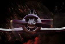 Soviet War Fighter Plane Stock Photo