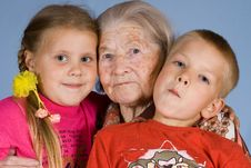 Free Grandsons And The Grandmother Stock Photo - 2815980
