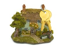 Free House (toy) And Keys Royalty Free Stock Photo - 2816185