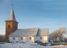 Old Danish Church Stock Images