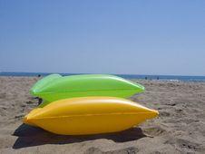 Free Air Mattrasses On The Beach Stock Photo - 2819890