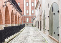 Free Medieval Street In Old Riga, Latvia Royalty Free Stock Photography - 28100157