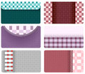 Free Business Cards Of Checkered Fabric Royalty Free Stock Image - 28101716