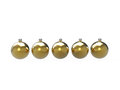 Free Christmas Gold Baubles Pack Royalty Free Stock Photo - 28103425