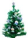 Free Little Xmas Tree With Handmade Decorations Stock Photos - 28105503